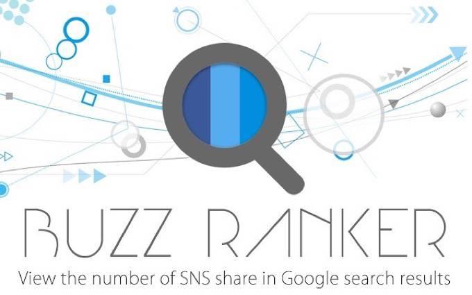 Google検索結果にSNSシェア数を表示!WEBサイトの反響がすぐに分かる!「BUZZ RANKER」