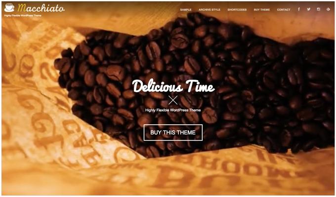 DigiPress 新WordPressテーマ パララックス対応「Macchiato」のデモサイトを公開!