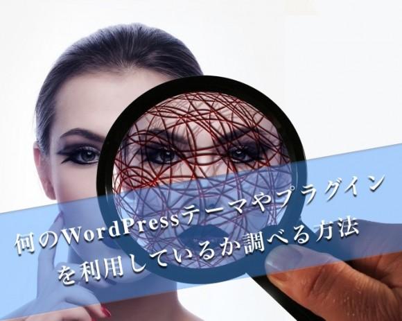 他のブログが何のWordPressテーマやプラグインを利用しているか調べる方法