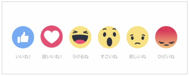 Facebookリアクション機能ボタンを追加