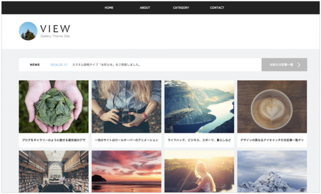 TCD 圧倒的な美しいポータルブログ向けWordPressテーマ「VIEW(tcd032)」